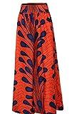 Oberora-Women Vintage Africa Print High Waist Big Hem Long Dashiki Skirts 1 S