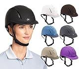 Ovation Girls Schooler Deluxe Riding Helmet Blue M/L US