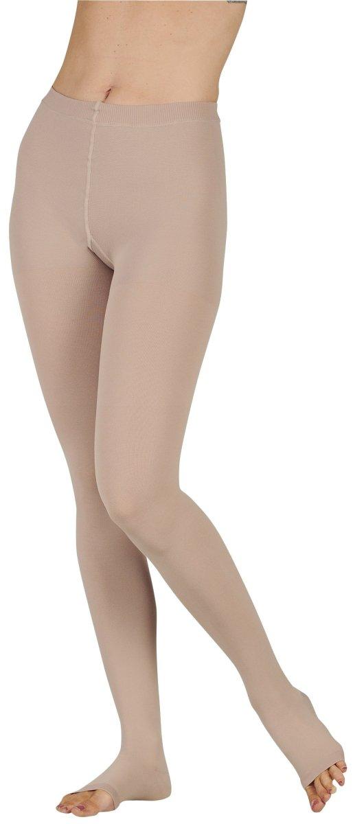 Juzo 2001ATFFOC43 III Soft 20-30 mmHg Full Foot Standard Compression Pantyhose with Open Crotch - Pink44; III - Medium