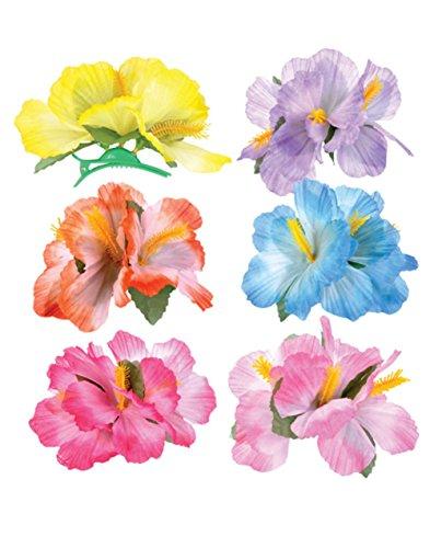 Hibiscus-Luau-Hair-Clips-12-Pc