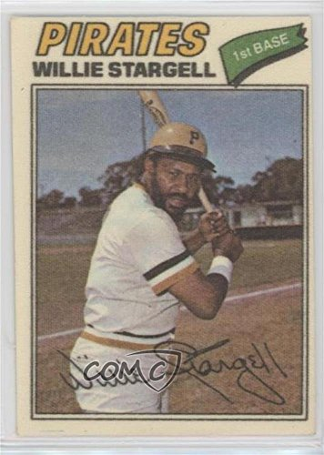 Willie Stargell (Baseball Card) 1977 Topps Baseball Patches Cloth Stickers - [Base] - Cloth 1977 Topps