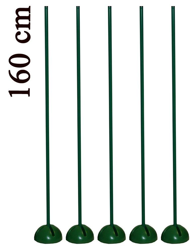 Set aste con base a X riempibile, colore: verde–diverse lunghezze d' asta