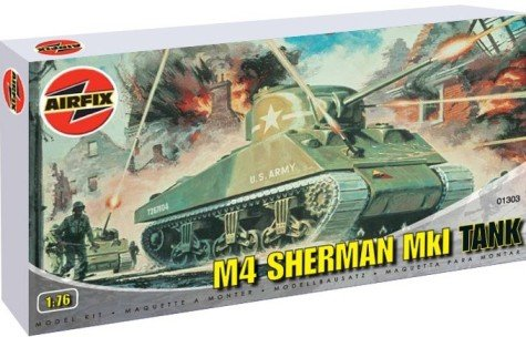 Airfix A01303 1:76 Scale Sherman M4 Mk1 Tank Military for sale  Delivered anywhere in USA