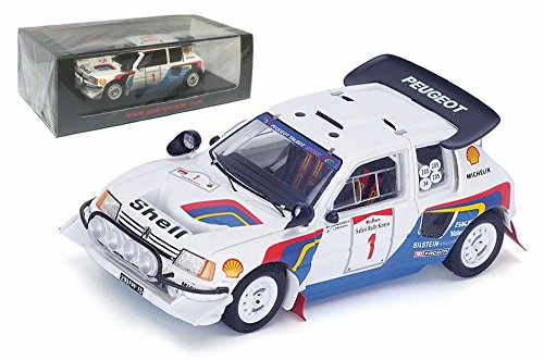 Peugeot 205 Turbo 16 EV2 #1 Safari 1986 Resin Model Car in 1:43 Scale by Spark