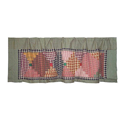 Patch Magic Harvest Log Cabin (Patch Magic Harvest Log Cabin Curtain Valance, 54-Inch by)