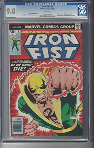 Iron Word go 8 CGC 9.0 White Pages 1st App of Chaka 1976