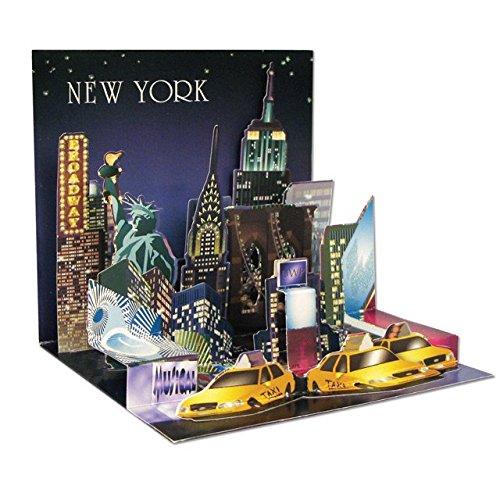 Popshots 3D Pop Up Treasures Greeting Card New York Popshots Studios