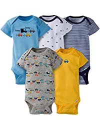 Baby Boys' 5-Pack Short-Sleeve Onesies