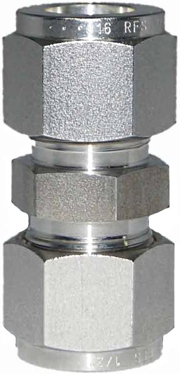 Union Coupling 15.88MM OD 5//8OD Stainless Steel SS316 Material Double Ferrule Fitting