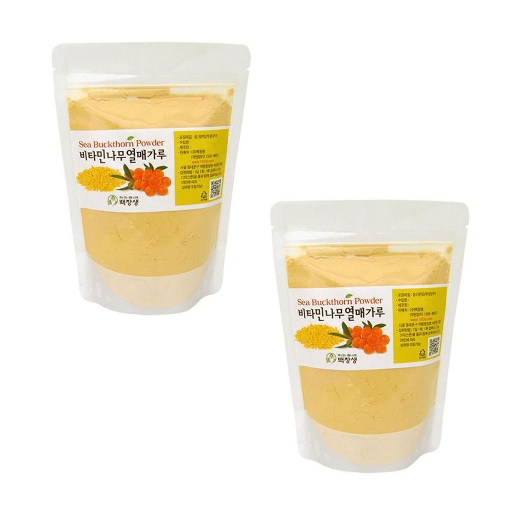 Sea Buckthorn Fruit Powder 2 Pack Natural 100% Detox Super Foods Vitamin C Weight Loss Total 400g(14oz) by Bakjangseng