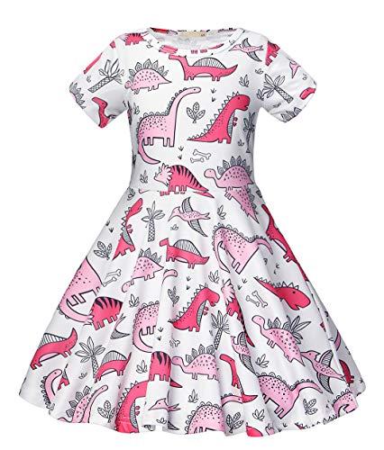 Girls Dinosaur Dress - Jurebecia Girls Dinosaur Dress Children Fancy