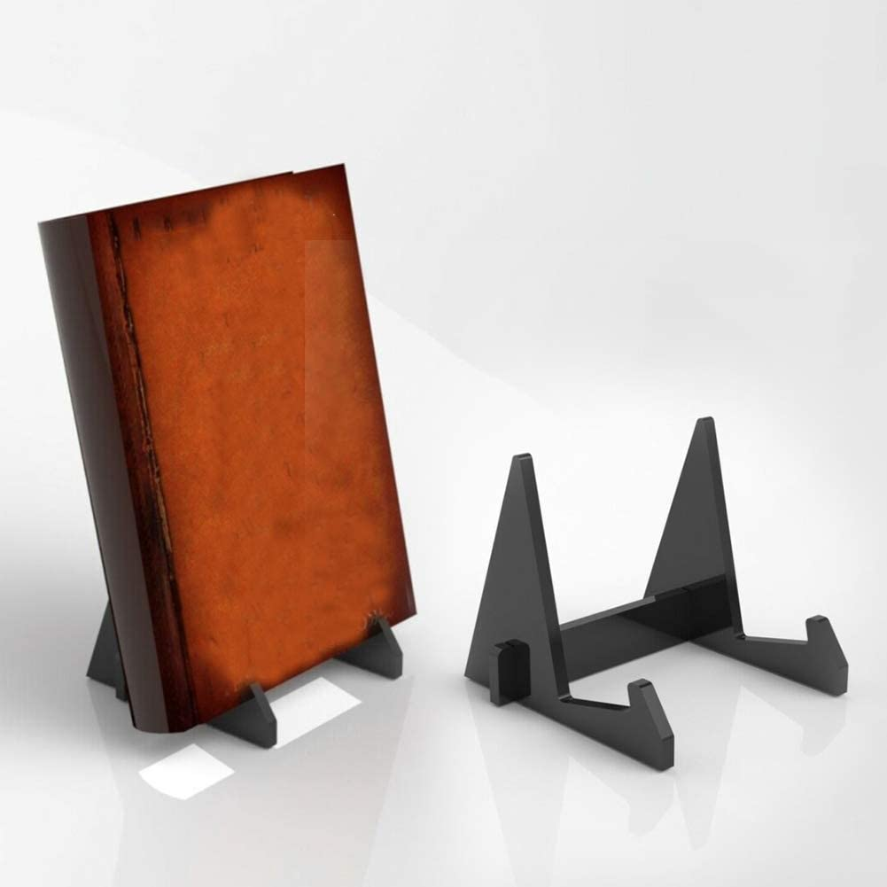 Acrylic Book Display Stand Photo Frame Brochure Artwork Holder Organizer Carrier Black farawamu Book Display Stand