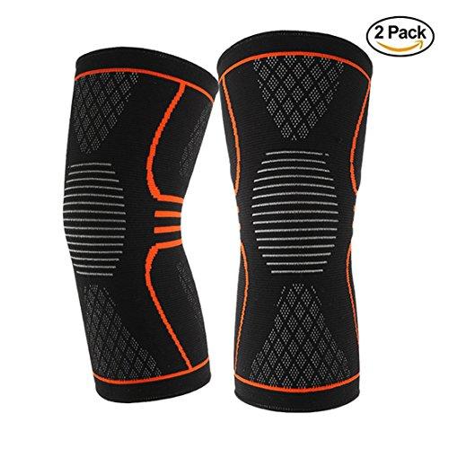 Find-In-Find 2 PACK Football Basketbll Jogging Knee Brace Support,Roterdon Athletic Compression Knee Sleeve (10 Cent Golf Balls)