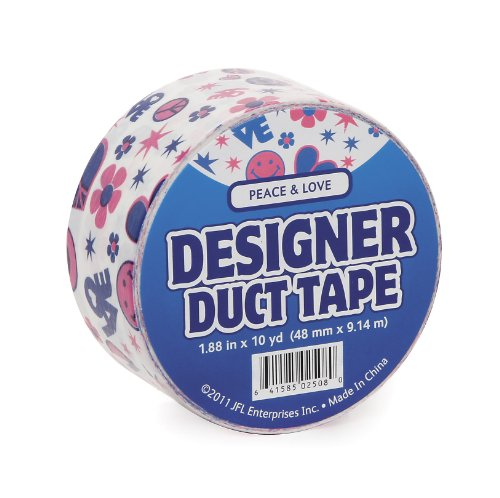 Just for Laughs JFL2508 Duct Tape, 10-Yard, Peace and Love
