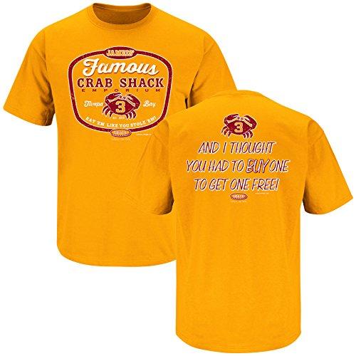 (Tampa Bay Football Fans. Jameis' Famous Crab Shack #3 Orange T-Shirt (S-5X) (Large))