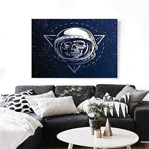 Warm Family Outer Space Canvas Wall Art for Bedroom Home Decorations Dead Skull Head Icon Cosmonaut Costume Astronomy Terrestrial Horror Scare Image Wall Stickers 20