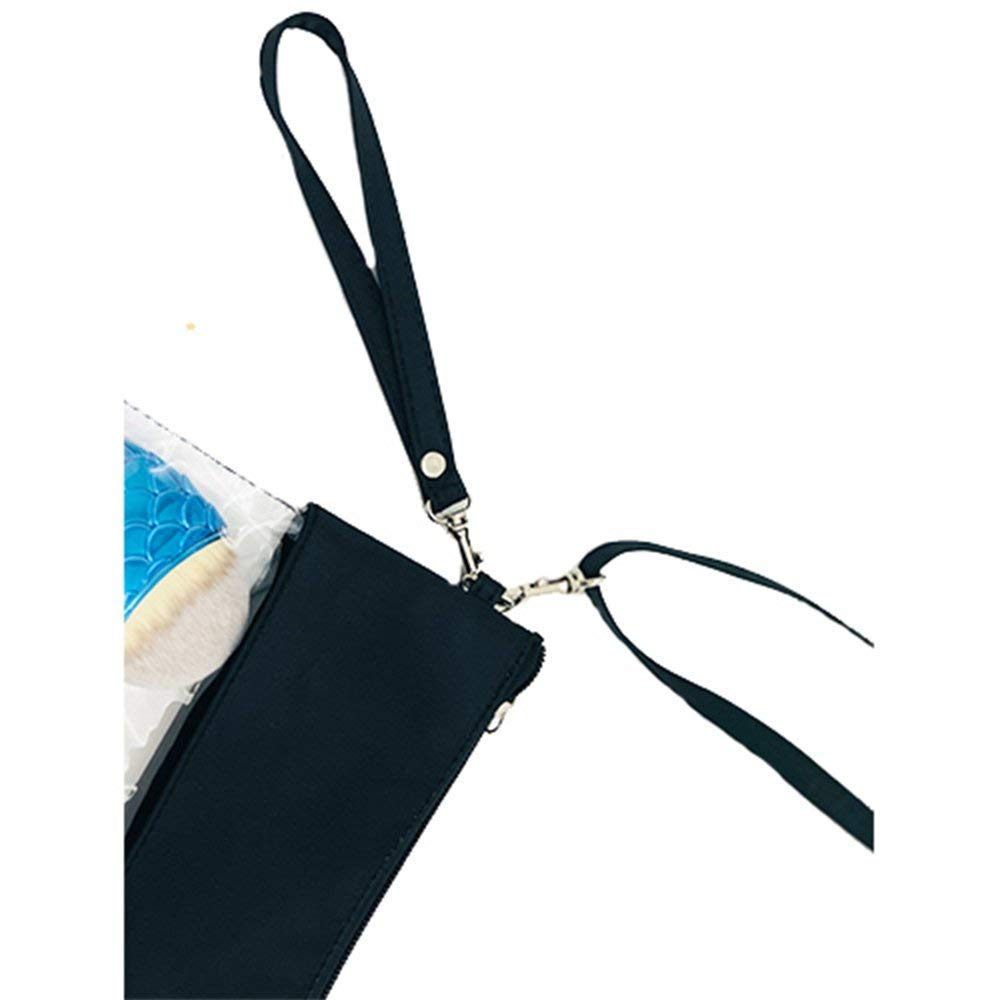 Black Wanty Adjustable Cross-Body Strap Clear Stadium and Security Approved Travel Large Crossbody Purse Bag with Shoulder Strap