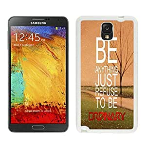 Beautifulcase Refuse To Be Ordinary Inspirational Hipster Quote Samsung Galaxy Note 3 case cover Sale uZO5PBQoAIE funky White Cover from xilaile