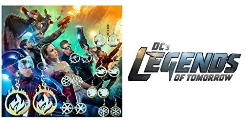 Pair Halloween Costumes For Teenage Girls (J&C Family OwnedDC Comics Legends of Tomorrow TV Series Logo (8-Pair ) Cute Girl Charm Earrings)