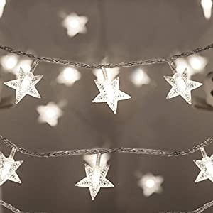 Koxly Star String Lights 49 Ft 100 LED 8 Modes Plug in Twinkle Light with Remote Control Fairy Lights for Bedroom Indoor Outdoor Christmas Tree Room Decor Warm White and Cool White