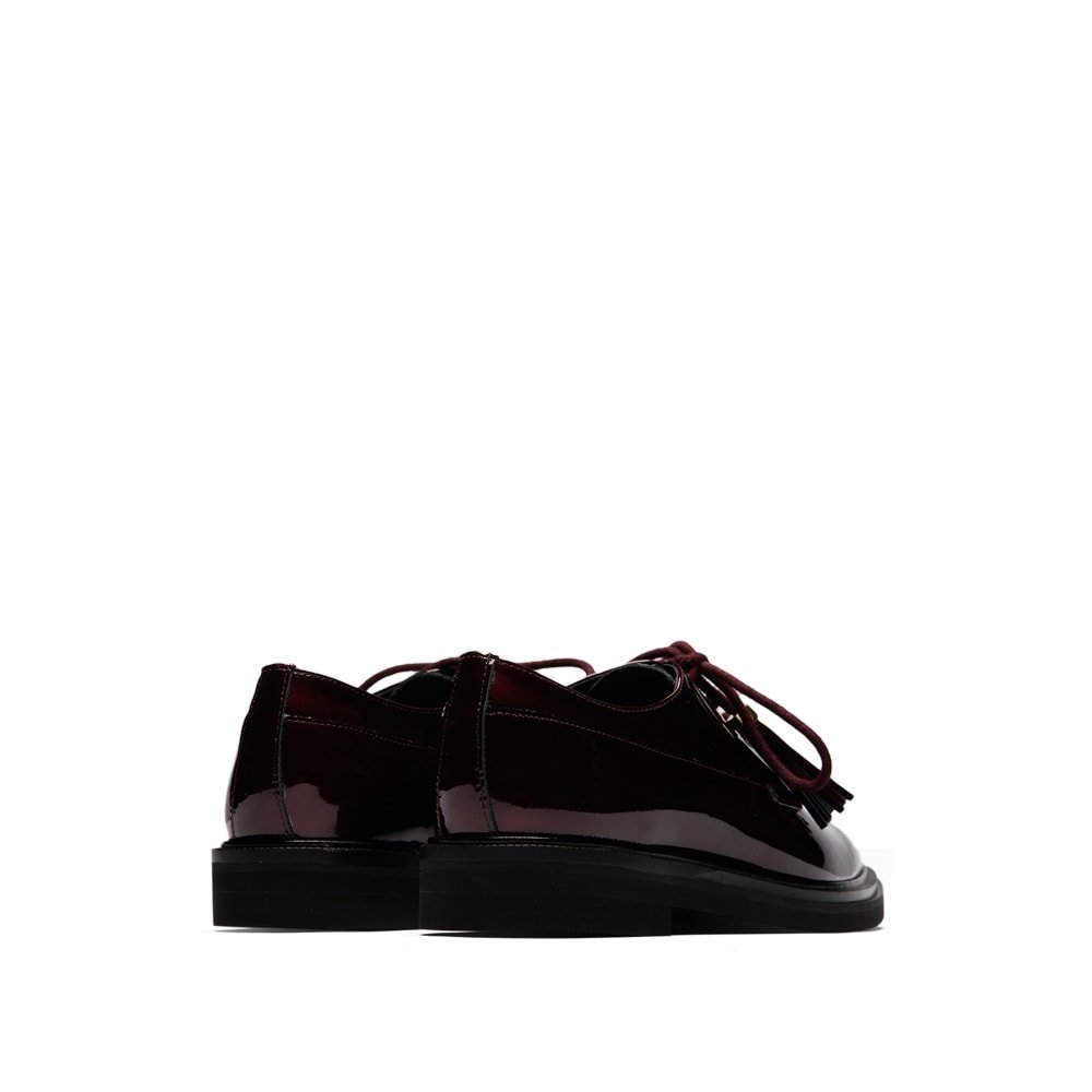 Kenneth Cole New York Women's Annie Menswear Style Leather Oxford, Wine, 8 M US by Kenneth Cole New York (Image #3)
