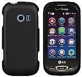 phone cases for a lg slide phone - BLACK PROTEX RUBBERIZED HARD CASE COVER FOR VERIZON LG EXTRAVERT-2 VN280 PHONE