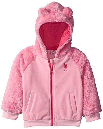 US Polo Association Baby Girls' Outerwear Jacket (More Styles Available), UB16-Light Pink, 12M ()