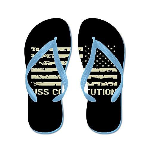 Cafepress Uss Constitution - Flip Flops, Roliga Rem Sandaler, Strand Sandaler Caribbean Blue