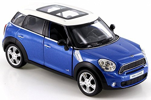 RMZ City Mini Cooper S Countryman, Blue 555001 - Diecast Model Toy Car but NO Box ()