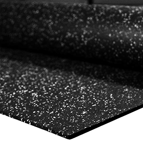 """IncStores 1/4"""" Tough Rubber Roll (Egg Shell Fleck, 4' x 10') - Excellent Gym Floor mats for Medium/Large Equipment and Light/Moderate Free Weights"""