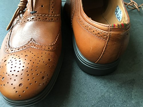 PAUL SMITH PS SAMMLUNG HELLBRAUNES LEDER CARSON OXFORD BROGUE HALBSCHUHE UK 7 EU 41