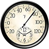 Taylor Products 14'' Decorative Thermometer with Clock