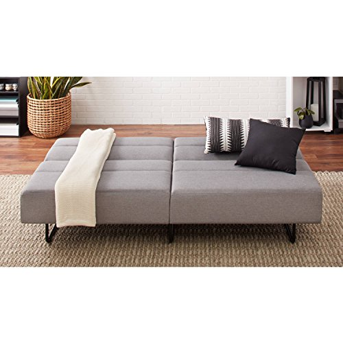 Easy to Assemble, Modern and Comfortable Sleeper with 3 Position Click-clack Technology Sofa Bed, Gray Sleeper Upholstered Sofa