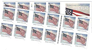 Usps Us Flag 2016 Forever Stamps Book Of 20 B01bhhq3e6