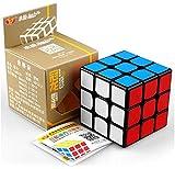 cuberspeed Yongjun YJ Guanlong Plus 3x3 Black Speed Cube YJ guanlong Plus 3x3x3 Speed Cube Puzzle