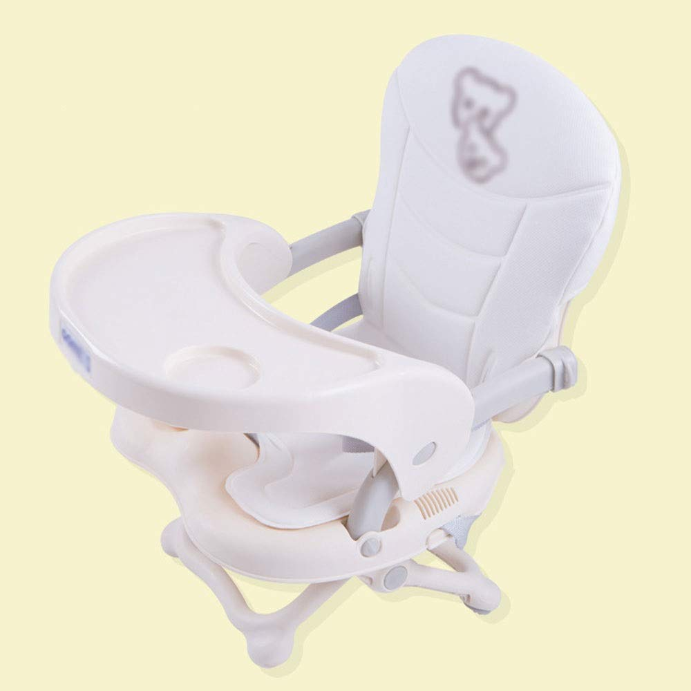 Beige DDSS Baby high chair - Aluminum Alloy, 6 Months - 36 Months Baby Multi-Function Luxury Foldable Portable Out-of-The-Box Baby Change Dining Stool - 3 colors Available  -  (color   bluee)