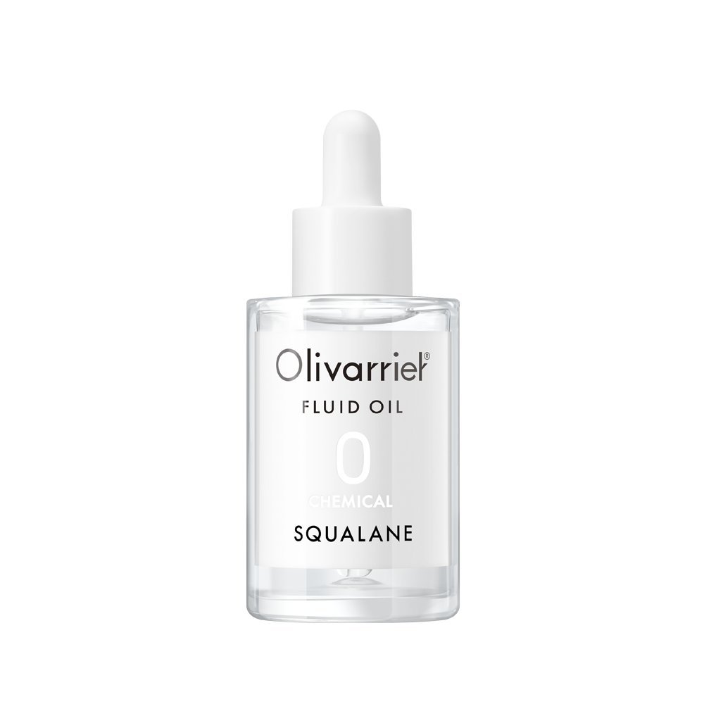 Olivarrier Fluid Oil 1.01 fl.oz. unscented antioxidant facial oil with 100% olive squalane Strengthen skin barrier without greasy Hydrating for All skin types even Sensitive skin Cruelty free and vegan LTD