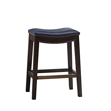Surprising Madison Park Belfast Bar Stools Contour Faux Leather Padded Seat Nail Head Trim Modern Kitchen Counter Chair Solid Hardwood Kickplate Footrest Caraccident5 Cool Chair Designs And Ideas Caraccident5Info