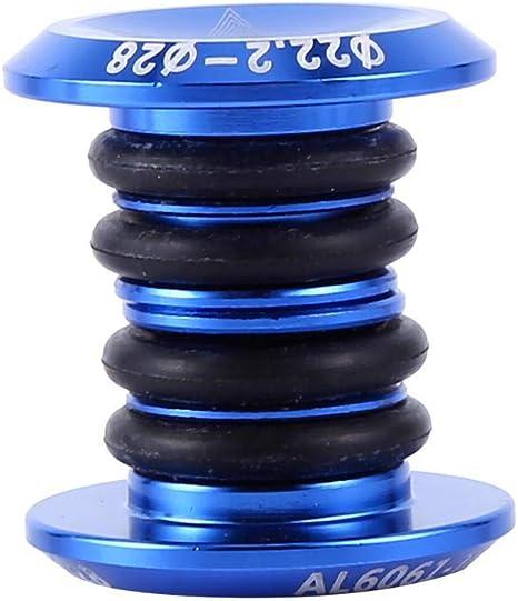 FanLe 1 Paire de Bouchons dextr/émit/é de Guidon Embouts de Guidon Bouchons de Guidon de v/élo pour la Plupart des v/élos VTT BMX v/élo de Route VTT Plastique + Aluminium, Noir//Rouge//Argent//Bleu