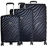 Delsey Alexis Expandable Lightweight 3-Piece Luggage Set with TSA Lock and Carry On (Navy)