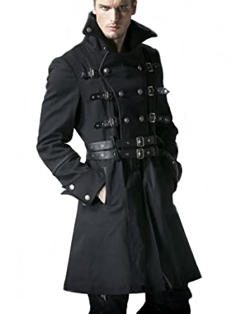 100% qualité garantie nouvelle apparence 100% authentique Trench Visual kei Manteau Style Gothique Punk militärmantel ...