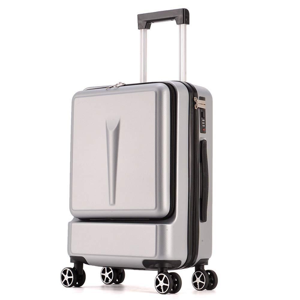 HEMFV スーツケース、荷物を持って展開可能、トラベルバッグトロリースーツケース付きスピナーホイール軽量で丈夫な旅行用荷物 (色 : C, サイズ さいず : 20) 20 C B07R9V7KYF