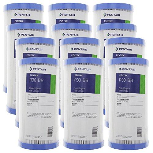 Pentek R30-BB 30 Micron Big Blue Heavy Duty 10x4.5 inch Sediment Filter 12 Pack by Pentek