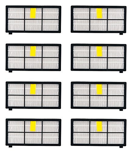 I-clean Replacement Filter for iRobot Roomba 980 880 870 800 HEPA Filter[8PCS]Vacuum Cleaners Filters Kits (Robotic Notes Elite compare prices)