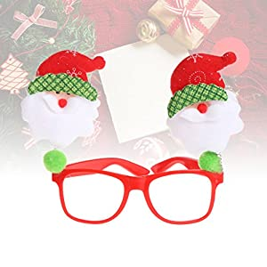 NNDA CO Christmas Eyeglasses , Santa Claus Red Eyeglasses Frame Goggle Party Costume Prop Ornaments Glasses