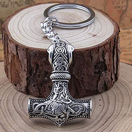 British Keychains Mjolnir Llavero de Doble Cara Martillo de ...