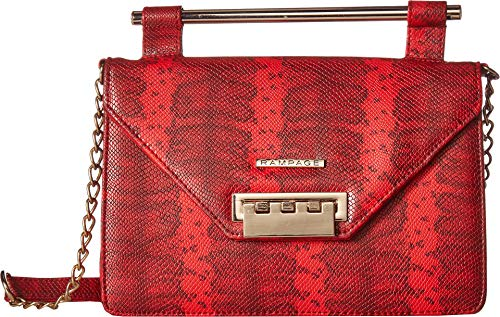 Rampage Womens Wild Snake Crossbody Red One Size