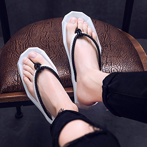 Tendance La bande Summer Le Blanc Tongs eu38 Personnalité Les Regroupement Blanche Pantoufles Noir PwU0zTqPX