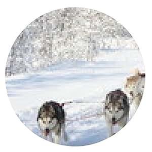 alfombrilla de ratón Dogsledding - ronda - 20cm