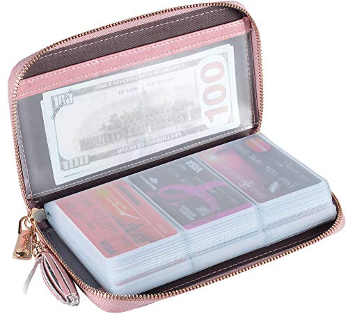 (Yuhan Pretty Womens Credit Card Holder Wallet RFID Leather Small ID Card Case (60 Card Slots -)
